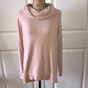 Lou & Grey cowl neck sweatshirt size Small in pink